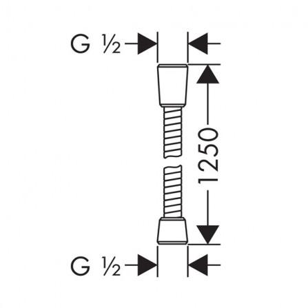 Hansgrohe Sensoflex Шланг 1,25 м металл 28132000