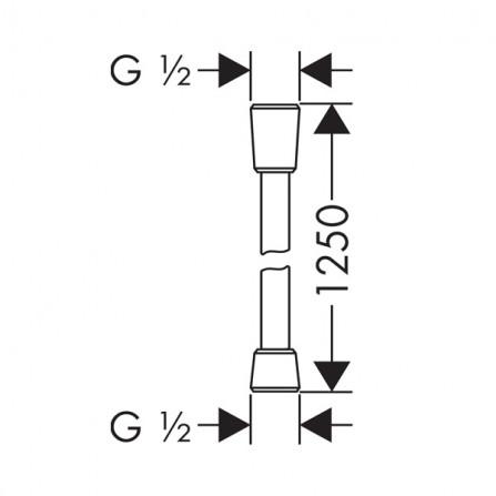 Hansgrohe Comfortflex Шланг 1,25 м 28167000