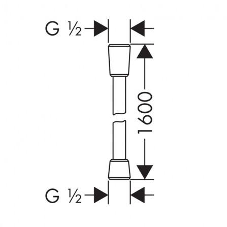 Hansgrohe Comfortflex Шланг 1,60 м 28168000
