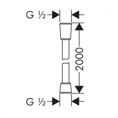 Hansgrohe Comfortflex Шланг 2,00 м 28169000
