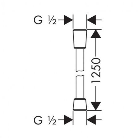 Hansgrohe Isiflex Шланг 1,25 м 28272000