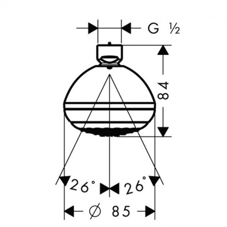 Hansgrohe Crometta 85 Green 1jet Верхний душ 28423000