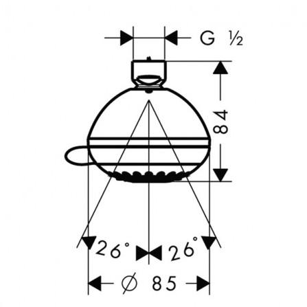 Hansgrohe Crometta 85 Vario Верхний душ 28424000