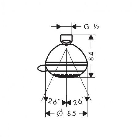 Hansgrohe Crometta 85 Multi Верхний душ 28425000