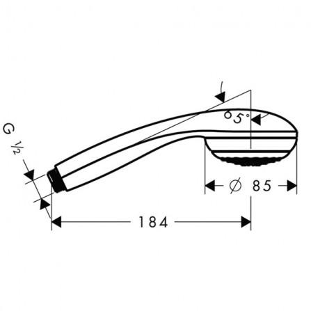 Hansgrohe Crometta 85 Green Ручной душ 28561000