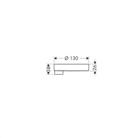 Hansgrohe Мыльница Cassetta'C Puro 28679000