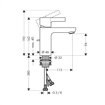 Hansgrohe Metris S 100 Смеситель для раковины 31063000