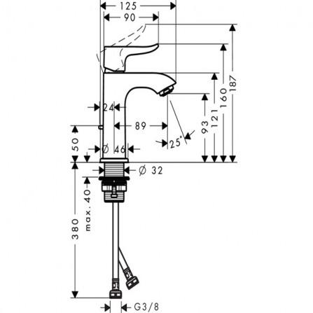 Hansgrohe Metris 100 Смеситель для раковины 31088000