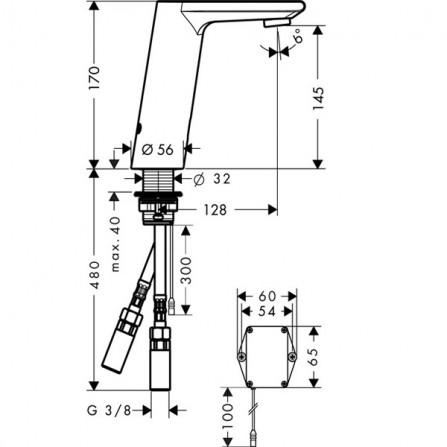 Hansgrohe Metris S Смеситель для раковины электронный 31100000