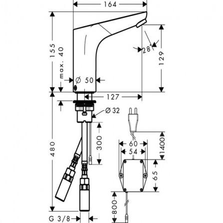Hansgrohe Focus Смеситель для раковины электронный 31174000