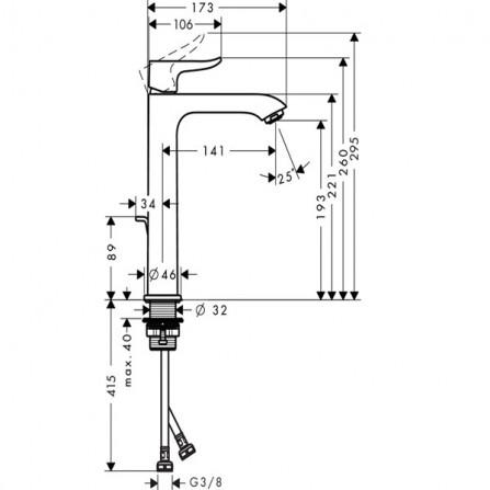 Hansgrohe Metris 200 Смеситель для раковины 31183000