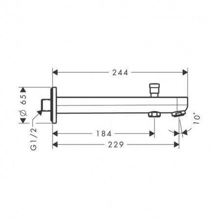 Hansgrohe Metris S Излив для ванны 228 мм 31416000
