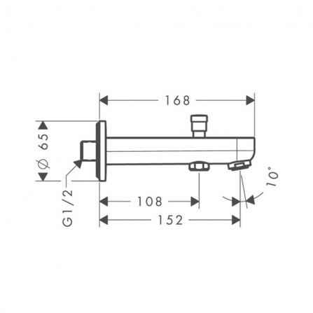 Hansgrohe Metris S Излив для ванны 152 мм 31417000