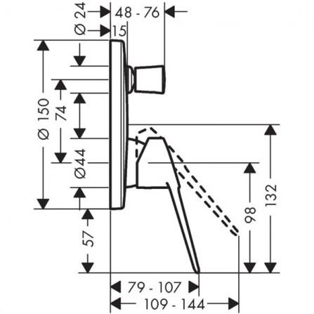 Hansgrohe Novus Loop Смеситель для ванны, СМ 71345000