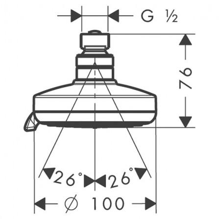 Hansgrohe Croma 100 Multi Верхний душ 27443000