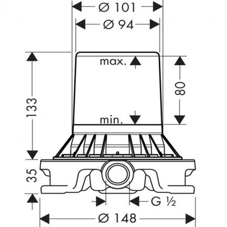 Hansgrohe Механизм Смеситель для ванны, СМ 10452180