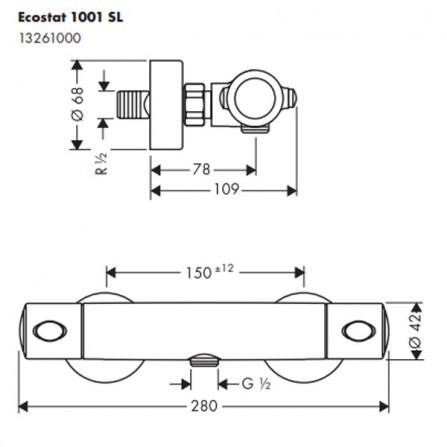 Hansgrohe Ecostat 1001 SL Термостат для душа 13261000