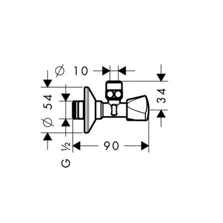 Hansgrohe Вентиль угловой E 13902000