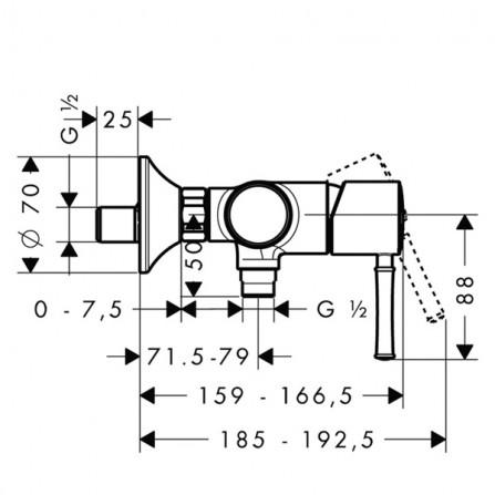 Hansgrohe Тalis Classic Смеситель для душа 14161000
