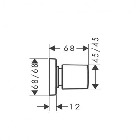 Hansgrohe PuraVida Запорный вентиль, СМ 15978000