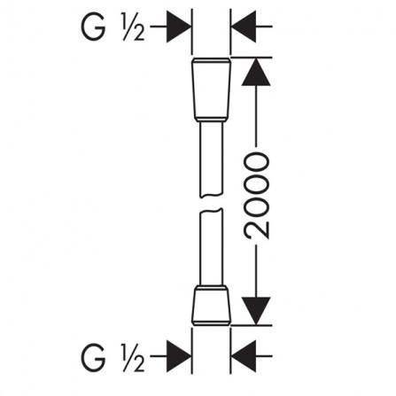 Hansgrohe Isiflex Шланг 2,0 м 28274000