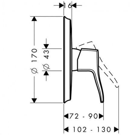 Hansgrohe Metris Classic Смеситель для душа, СМ 31676000