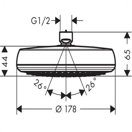Hansgrohe Crometta 160 1jet LowPressure Верхний душ 26576000