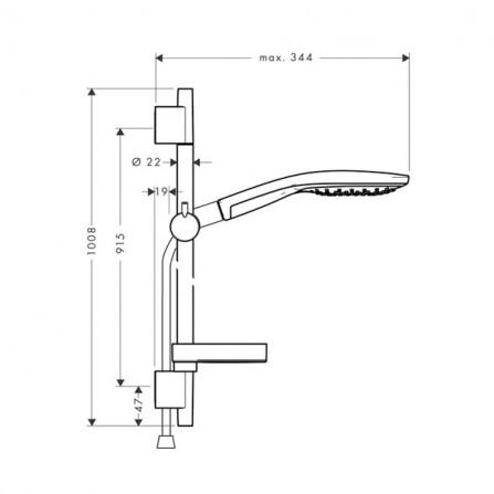 Hansgrohe Raindance Select S 150 3jet/ Unica'S Puro 90 Душевой гарнитур 27803400