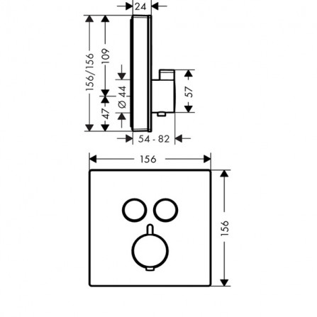 Hansgrohe ShowerSelect Термостат, 2 потребителя 15738400