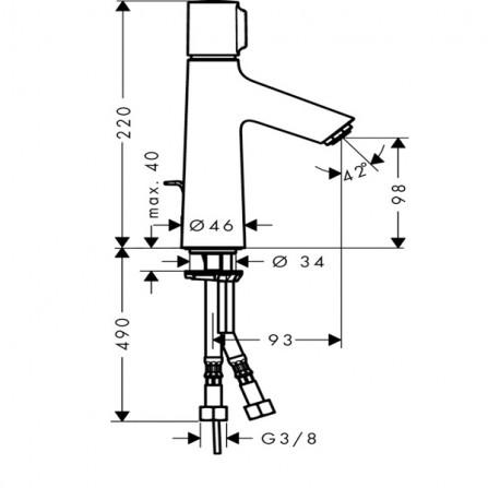 Hansgrohe Talis Select S 100 Смеситель для раковины 72042000