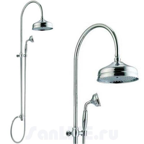 Nicolazzi Душевая стойка с ручным душем, верхний душ d=20 см хром
