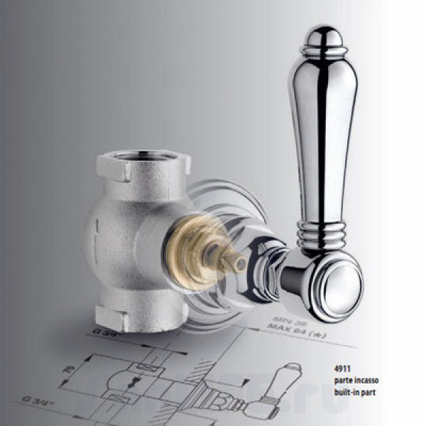 Nicolazzi Termostatico Запорный вентиль, механизм, СМ