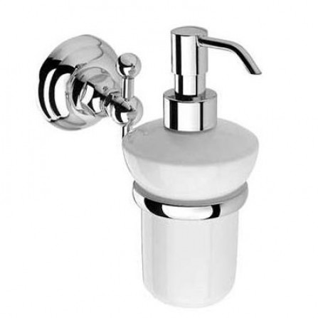 Nicolazzi Classici Дозатор для жидкого мыла настенный хром керамика