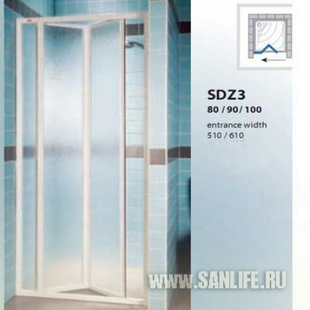 Ravak Supernova SDZ3-80 белая+Пеарл 02V4010011