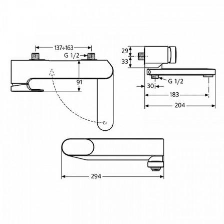 Ideal Standard Moments Смеситель для ванны A3914AA