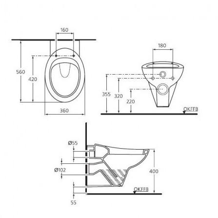 Ideal Standard Avance Сидение с крышкой K703101