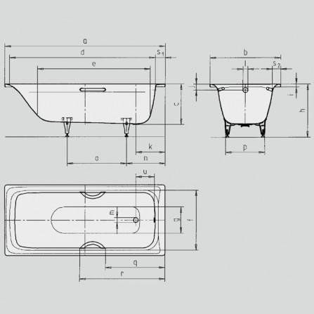 Kaldewei Sanilux 342 Ванна 1700x750 мм 113200010001