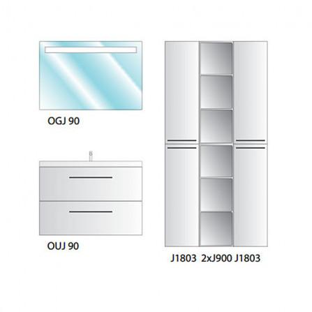 Kolpa-San Jolie 90 Зеркало с подсветкой
