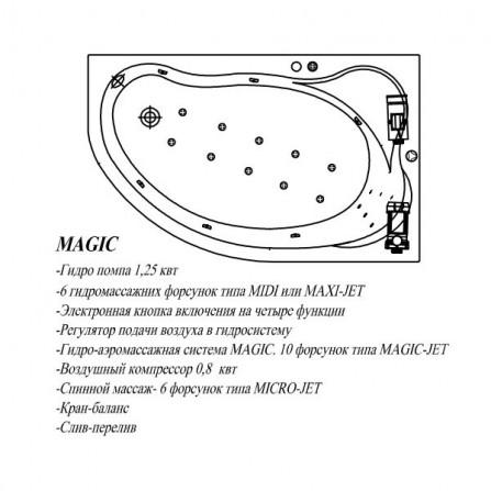 Kolpa-San Amadis New L Ванна акриловая 160x100 Magic