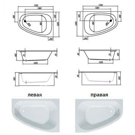 Kolpa-San Chad 170 L Ванна акриловая 170x120 Luxus