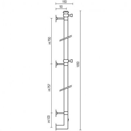 Margaroli Arcobaleno 616 Box Полотенцесушитель электрический 1650х150 мм 616CRB-1650