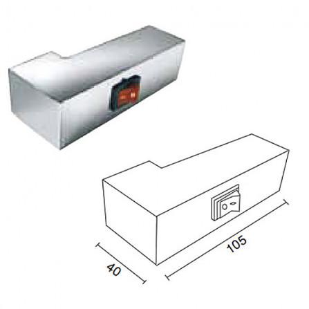 Margaroli Panorama 842 Box Полотенцесушитель электрический 620x515 мм 8424704CRNB