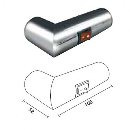 Margaroli Sole 542 Box Полотенцесушитель электрический 660х500 мм 5424704CRNB