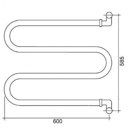 Margaroli Vento 400CR Полотенцесушитель водяной 585х600 мм поворотный