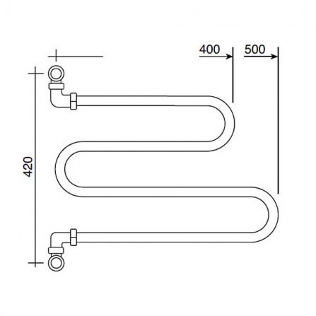 Margaroli Vento 406CR Полотенцесушитель водяной 585х600 мм поворотный