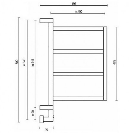 Margaroli Vento 800 Box Полотенцесушитель электрический 680х400 мм 8004704CRNB