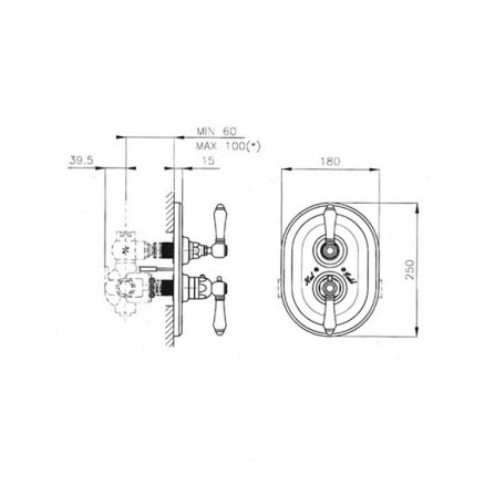 Nicolazzi Termostatico Термостат, 1 потребитель, СМ, бронза 4909BZ69