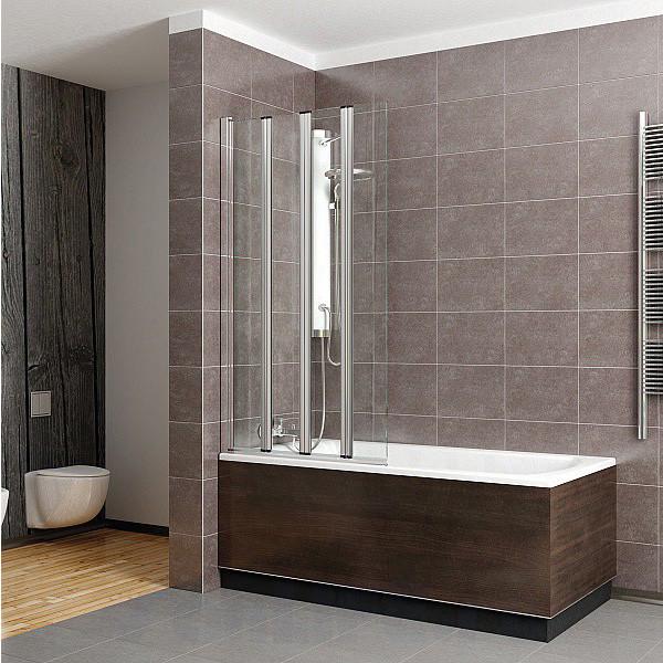Radaway EOS PNW5 Шторка для ванны 107x152H хром/прозрачное