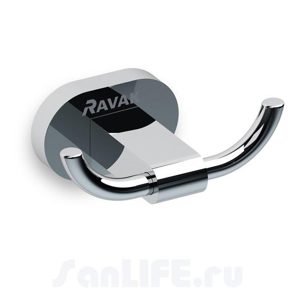 Ravak Chrome Крючок двойной CR 100.00