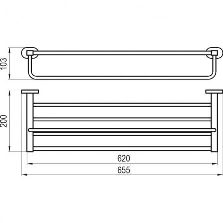 Ravak Chrome Полка для полотенец CR 330.00